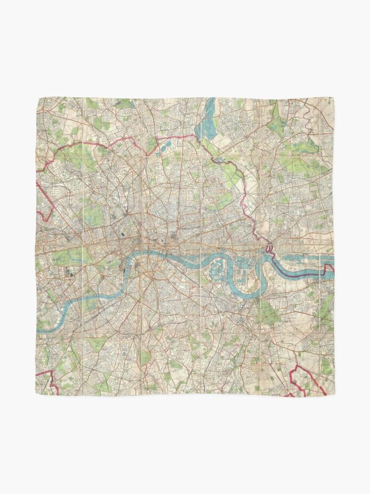 Alternative Ansicht von Vintage Karte von London England (1899) Tuch