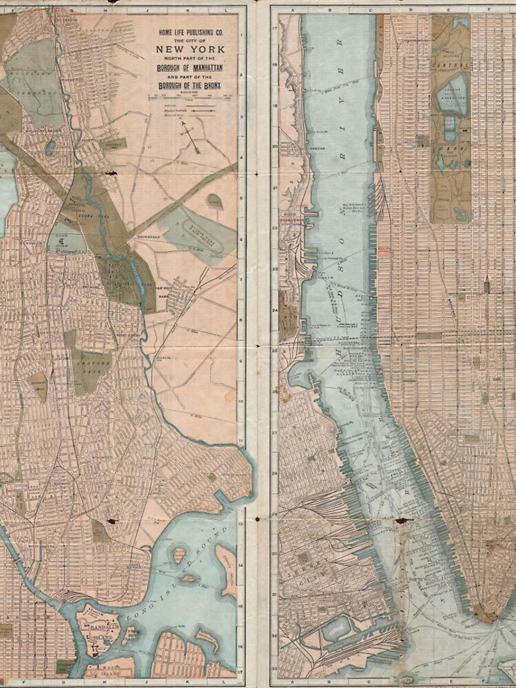 Vintage Map of New York City (1899) de BravuraMedia