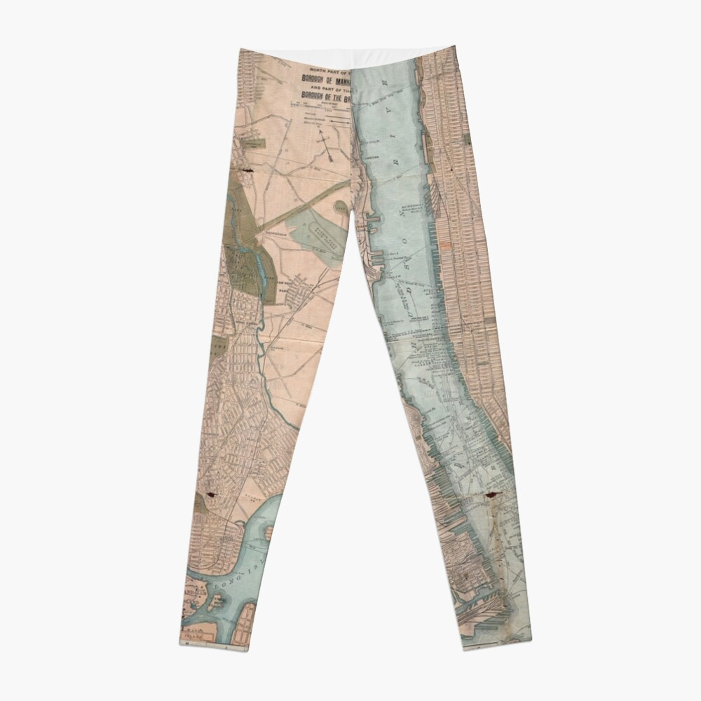 LeggingsVintage Map of New York City (1899) Delante