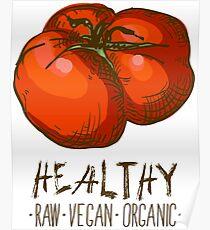 hand drawn vintage illustration of tomato Poster