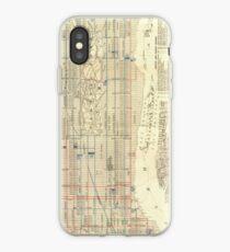 Vinilo o funda para iPhone Vintage Map of The NYC Railways (1899)