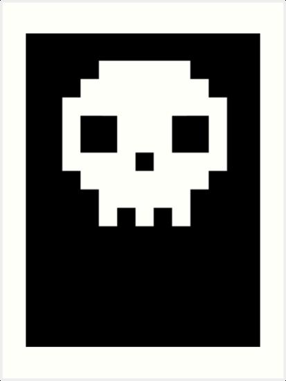 7b7864975 Pixel Skull T Shirt