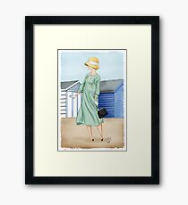 Anna at the beach Framed Print