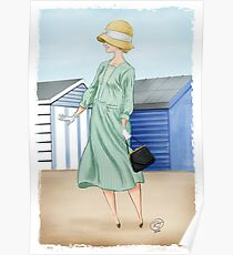 Anna at the beach Poster
