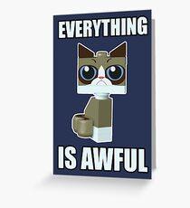 Grumpy Bricks Greeting Card