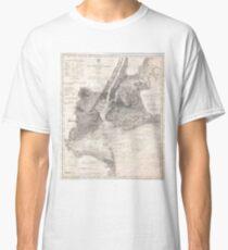 Camiseta clásica Vintage Coastal Map of New York City (1910)