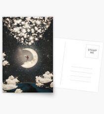 Die große Reise des Mannes auf dem Mond Postkarten