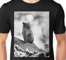 B/W Cute Chipmunk Unisex T-Shirt