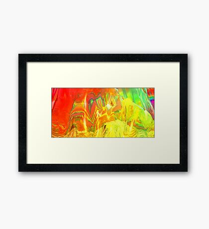 But the colours, they sang a song... Framed Print