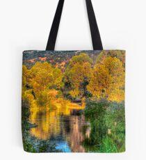 Trees around the lake Tote Bag