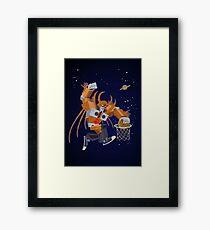 Planet dunk Framed Print