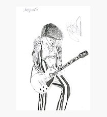 Signed Justin Hawkins Photographic Print