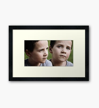 Mess with him, and you mess with me. Framed Print