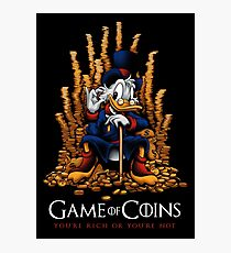 Game of Coins Photographic Print
