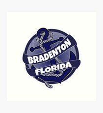 Bradenton Florida anchor swirl Art Print