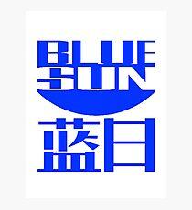 Blue Sun Photographic Print