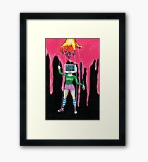 Get Your Head Out of That Box Framed Print