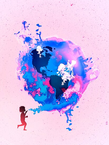 Bubble Earth by Pepe Psyche