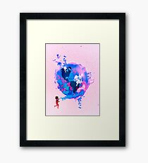 Bubble Earth Framed Print