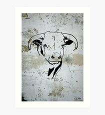 Cowboy Western Steer Head Art Print