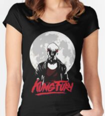 Kung Fury - Moon Women's Fitted Scoop T-Shirt