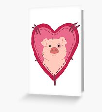 i love waddles patch Greeting Card