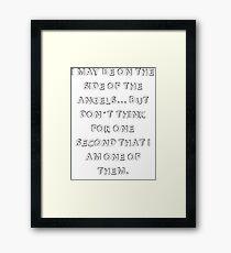Sherlock BBC Framed Print