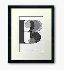 Modern Typography B? Framed Print