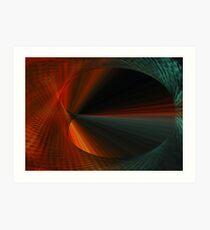 Tunnel Vision Algorithmic Art Art Print