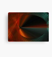 Tunnel Vision Algorithmic Art Canvas Print