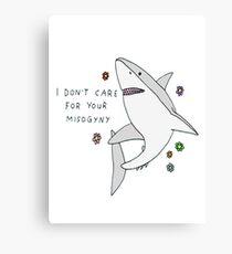Misogyny Shark Canvas Print