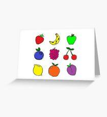 Fruits! Greeting Card