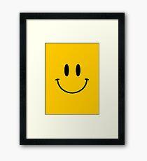 Retro Acid Smiley T Shirt Framed Print
