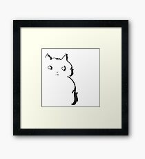This cat doesn't trust anybody Framed Print