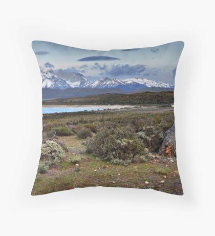 Torres Del Paine Throw Pillow