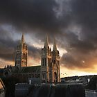 Truro cathedral at sunset by aaronnaps
