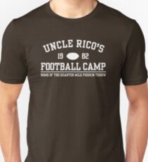 UNCLE RICO'S FOOTBALL CAMP Slim Fit T-Shirt