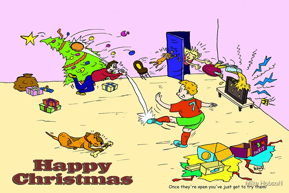Christmas Day Football (greeting) by Mike HobsoN