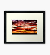 Colorful Rural Country Sunrise Framed Print