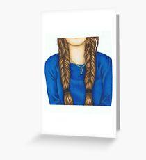 Fishtail Braids Greeting Card
