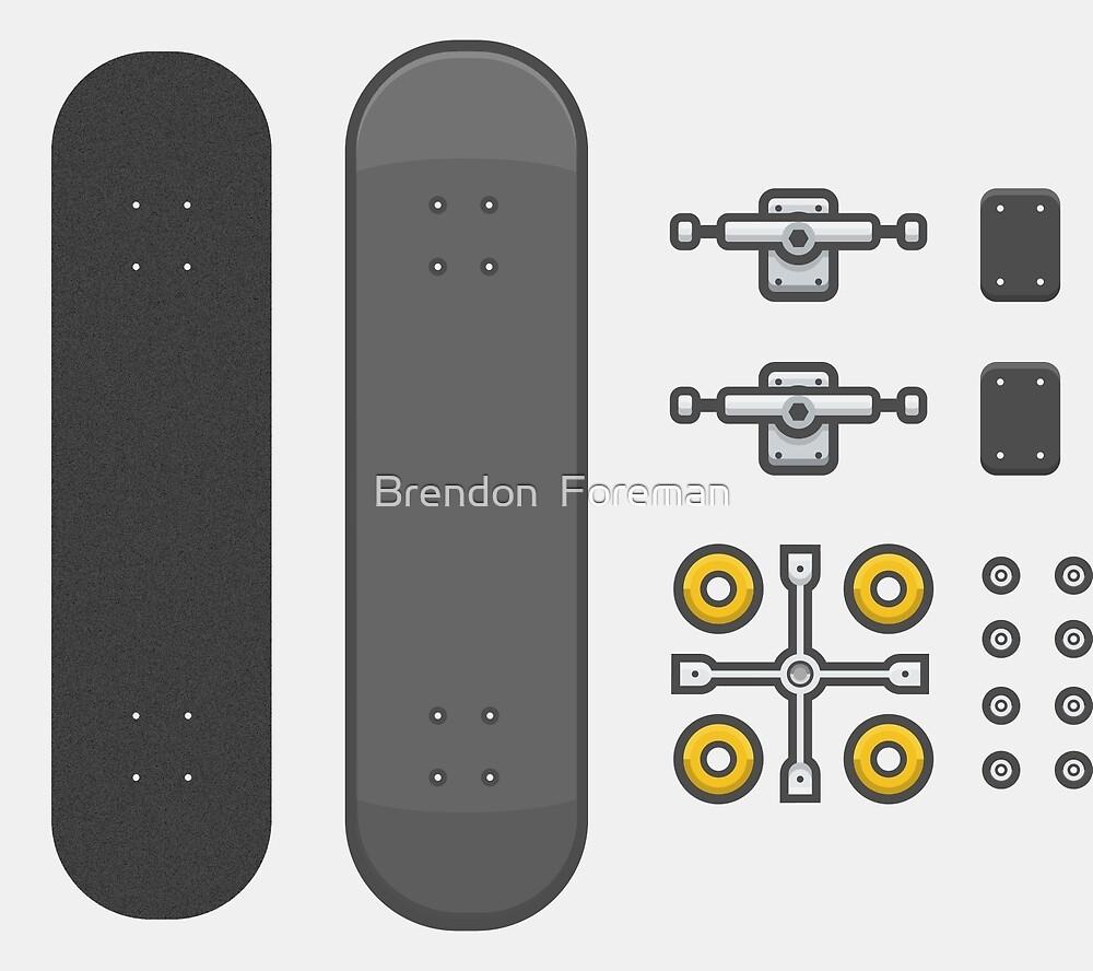 skateboarding kit by Brendon  Foreman
