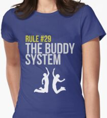 Zombieland Survival Guide - Rule #29 - The Buddy System Womens Fitted T-Shirt