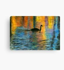 Holiday Swan Canvas Print