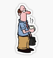 Boss with cup of coffee Sticker