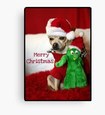 Holiday Greetings from Lacy & Gumby Canvas Print
