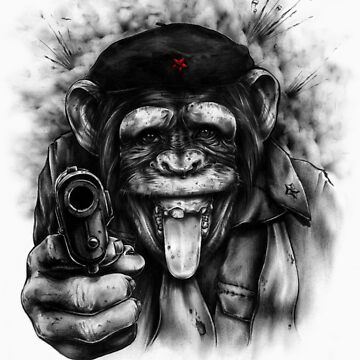 CHIMP GUEVARA by PULP-INK