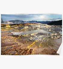Mammoth Hot Springs, Yellowstone National Park USA  Poster