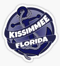 Kissimmee Florida anchor swirl Sticker