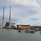 Poolbeg Chimneys by Ferdinand Lucino