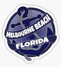 Melbourne Beach Florida anchor swirl Sticker